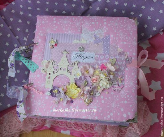 """Фотоальбомы ручной работы. Ярмарка Мастеров - ручная работа. Купить Фотоальбом 30х30см """"Мария"""". Handmade. Бледно-розовый, альбом для принцессы"""
