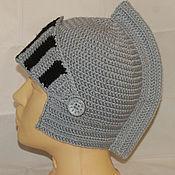 Работы для детей, ручной работы. Ярмарка Мастеров - ручная работа Вязаный шлем рыцаря. Handmade.