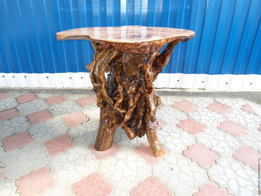 деревянный стол из массива горного тополя уникальная мебель для дома