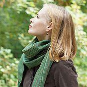 Аксессуары ручной работы. Ярмарка Мастеров - ручная работа Домотканый шарф bright stripes green. Handmade.