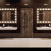 Для дома и интерьера ручной работы. Ярмарка Мастеров - ручная работа Зеркало с подсветкой на заказ. Handmade.