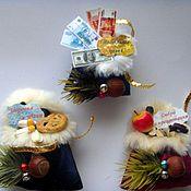 """Подарки к праздникам ручной работы. Ярмарка Мастеров - ручная работа магнит """"Новогодний мешочек"""". Handmade."""