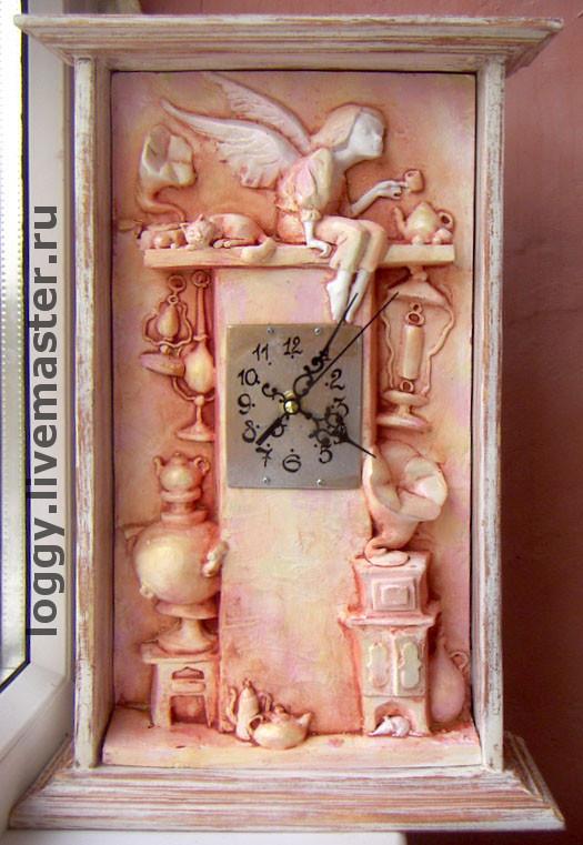 """Символизм ручной работы. Ярмарка Мастеров - ручная работа. Купить Часы """"Маленький антиквар"""". Handmade. Ангел, дача, авторская работа"""