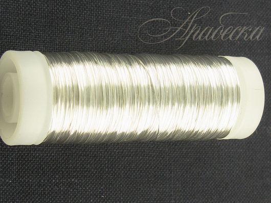 Проволока медная серебряного цвета 0.25мм EFCO (Германия) 105м/упак