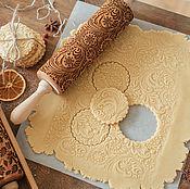 Для дома и интерьера handmade. Livemaster - original item FROSTY pattern - engraved rolling pin by Texturra. Handmade.