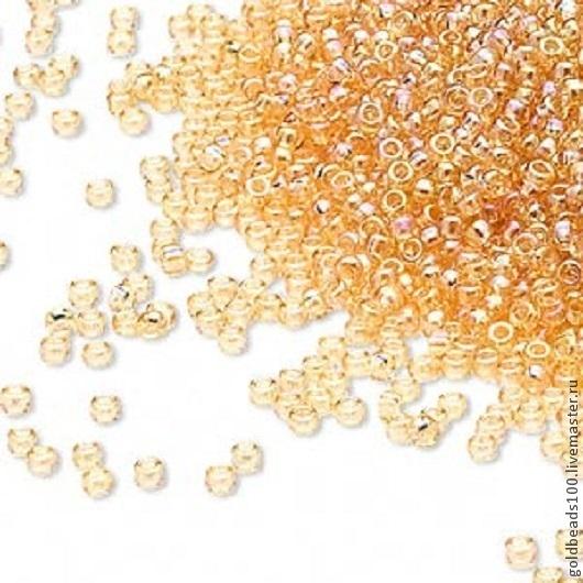 Для украшений ручной работы. Ярмарка Мастеров - ручная работа. Купить MIYUKI 15/0 251  transparent rainbow light gold. Handmade.