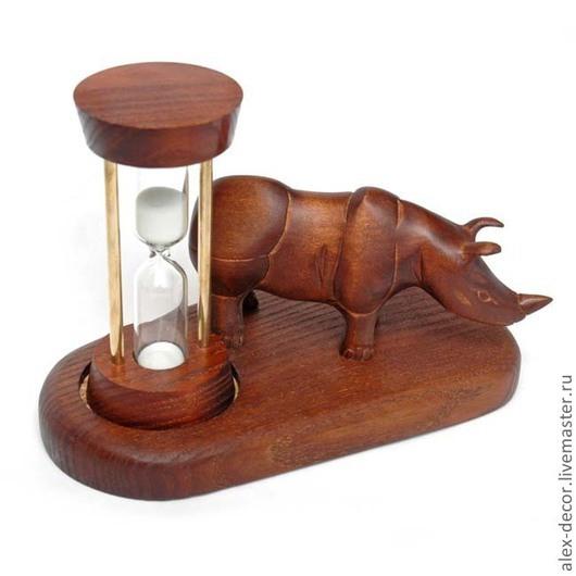 Часы для дома ручной работы. Ярмарка Мастеров - ручная работа. Купить Песочные часы Rhinoceros. Handmade. Песочные часы, часы