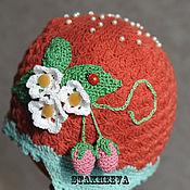 Работы для детей, ручной работы. Ярмарка Мастеров - ручная работа шапка ягодка-клубничка. Handmade.