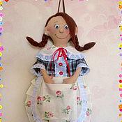 Для дома и интерьера ручной работы. Ярмарка Мастеров - ручная работа Пакетница девочка. Handmade.