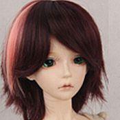 Материалы для творчества handmade. Livemaster - original item Doll wig, short, dyed. Handmade.