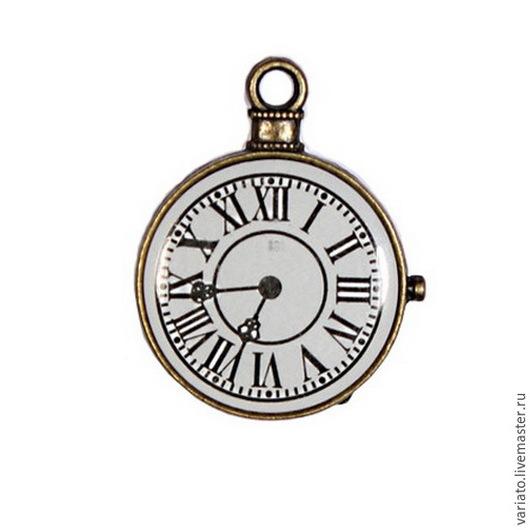 Для украшений ручной работы. Ярмарка Мастеров - ручная работа. Купить Подвеска Часы со стеклом. Handmade. Подвеска часы