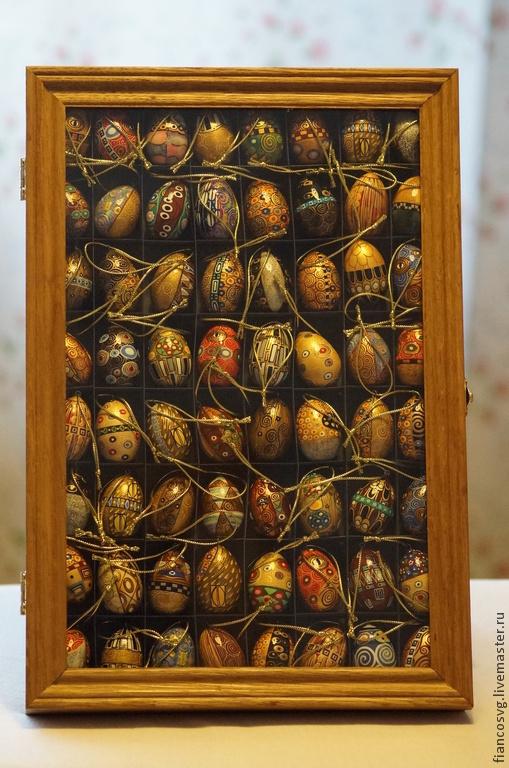 The Klimt styled 64 eggs set. Набор из 64 вручную расписанных яиц в стиле Густав Климт. В прекрасном качестве росписи.