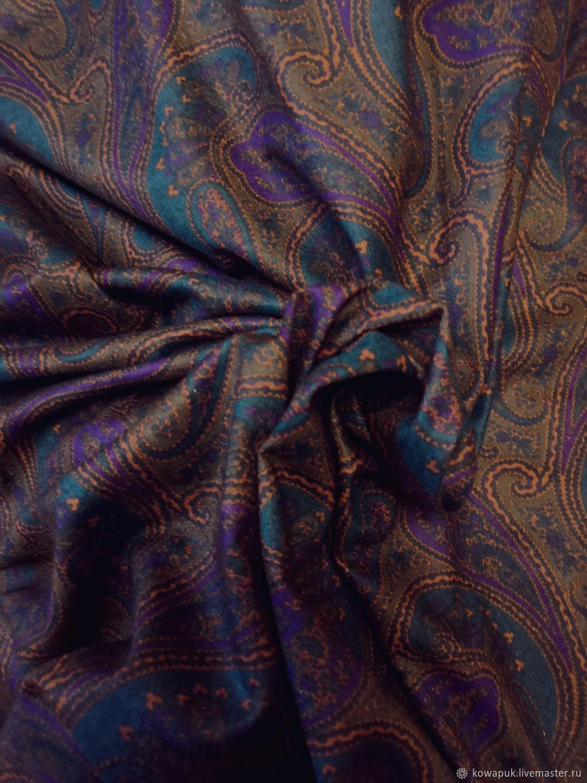 Ткань винтажная трикотаж тонкий (огурчики), Ткани, Москва,  Фото №1