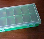 Материалы для творчества handmade. Livemaster - original item Box organizer for crafts 12 cells 240/130/50 mm. Handmade.