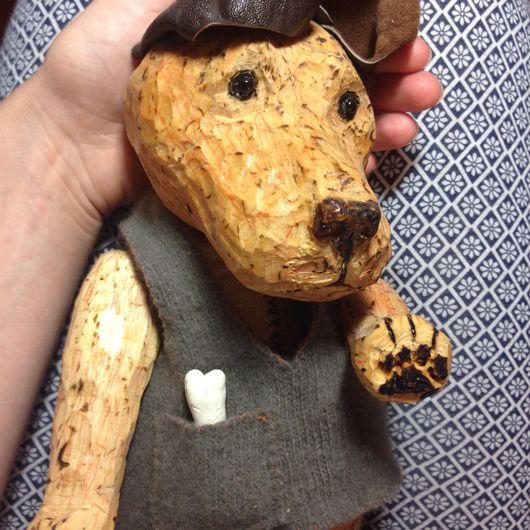 Игрушки животные, ручной работы. Ярмарка Мастеров - ручная работа. Купить Рыжий пес Веснушкин ручная работа дерево подарок любителю собак. Handmade.