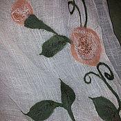 Аксессуары ручной работы. Ярмарка Мастеров - ручная работа Палантин персиковый. Handmade.