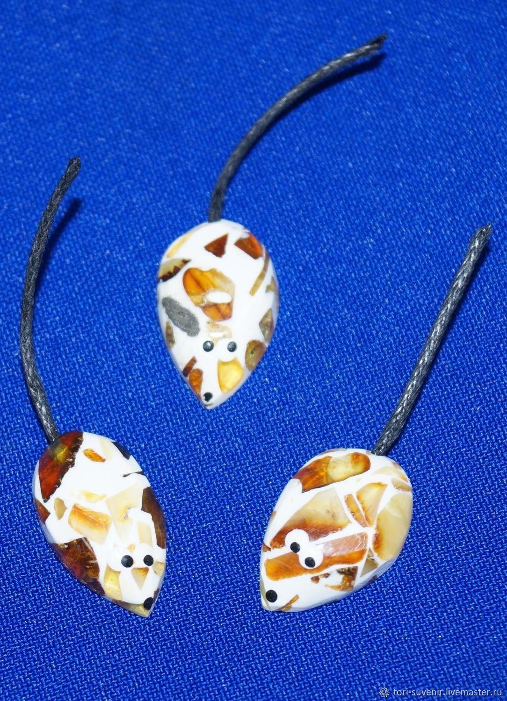 Fyke mouse 'Lemming' of amber chips, Mascots, Belokuriha, Фото №1