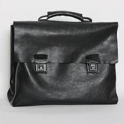 Сумки и аксессуары handmade. Livemaster - original item Leather briefcase. Handmade.