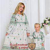 Одежда handmade. Livemaster - original item Dress cotton in folk style