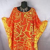 """Одежда ручной работы. Ярмарка Мастеров - ручная работа """"Оранжевое лето"""" пляжное платье. Handmade."""