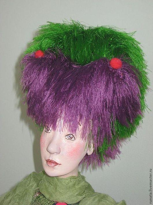 Коллекционные куклы ручной работы. Ярмарка Мастеров - ручная работа. Купить Юлали. Handmade. Зеленый, учтивая, пряжа