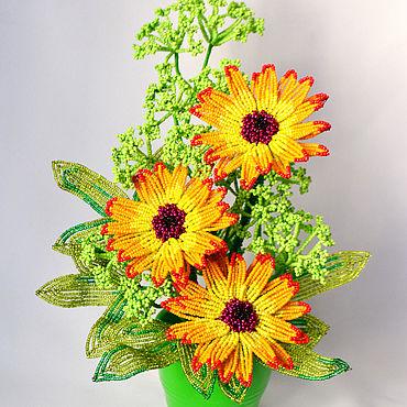 Flowers and floristry handmade. Livemaster - original item Composition Hot afternoon. Handmade.