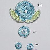 Материалы для творчества handmade. Livemaster - original item Embroidery applique Delicate blue flowers for clothes style stripe. Handmade.