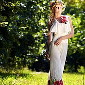 Одежда ручной работы. Ярмарка Мастеров - ручная работа Полевые цветы, комбинезон шелковый. Handmade.