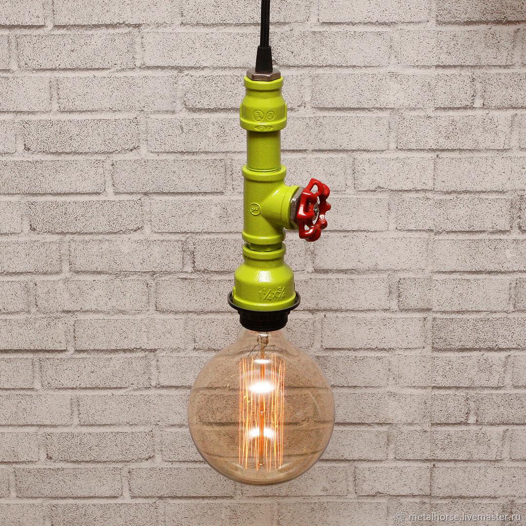 Подвесной светильник, лампа в стиле ретро, лофт, индастриал, стимпанк, Потолочные и подвесные светильники, Москва,  Фото №1