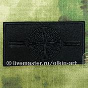 Материалы для творчества handmade. Livemaster - original item STONE ISLAND stripe (black, WITHOUT covering the background) (without buttons). Handmade.