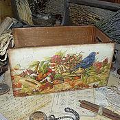"""Для дома и интерьера ручной работы. Ярмарка Мастеров - ручная работа """"Август"""" - короб. Handmade."""