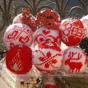 Подарки к праздникам ручной работы. Ярмарка Мастеров - ручная работа Набор вязаных елочных шаров (елочные украшения). Handmade.
