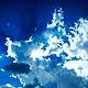 """Комплекты украшений ручной работы. Кулон, заколка и серьги """"Синее, синее небо """". Afalina - Александра Громова. Интернет-магазин Ярмарка Мастеров."""