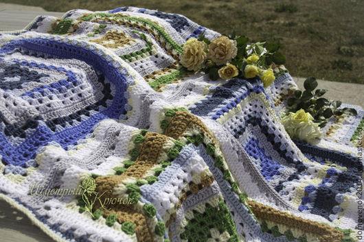 Текстиль, ковры ручной работы. Ярмарка Мастеров - ручная работа. Купить Плед из больших квадратов Лесной. Handmade. Плед, подарок