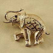 """Винтаж ручной работы. Ярмарка Мастеров - ручная работа Sarah Coventry  Мини - брошь в виде слона """"Махараджа"""". ( №259). Handmade."""