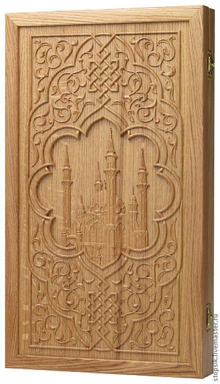 Настольные игры ручной работы. Ярмарка Мастеров - ручная работа. Купить Нарды, шашки Мечеть Кул-Шариф (дуб) (11507). Handmade.