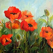 Картины и панно handmade. Livemaster - original item Painting Poppies oil on Canvas 35 by 40cm. Handmade.
