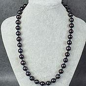 Работы для детей, handmade. Livemaster - original item Natural Black Pearl Beads. Handmade.