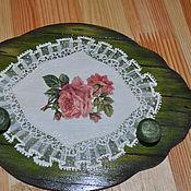 """Для дома и интерьера ручной работы. Ярмарка Мастеров - ручная работа Вешалка для кухни """" Розы """". Handmade."""
