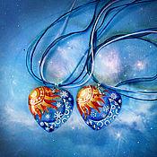 Украшения ручной работы. Ярмарка Мастеров - ручная работа Перламутровый кулон Ты моё солнце и звезды. Handmade.