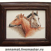 Картины и панно ручной работы. Ярмарка Мастеров - ручная работа Лошади-друзья. Handmade.