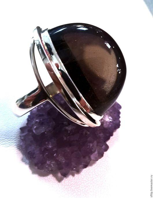 """Кольца ручной работы. Ярмарка Мастеров - ручная работа. Купить Кольцо""""Марго""""раухтопаз,пирит,серебро 925. Handmade. Коричневый, серебряное кольцо"""