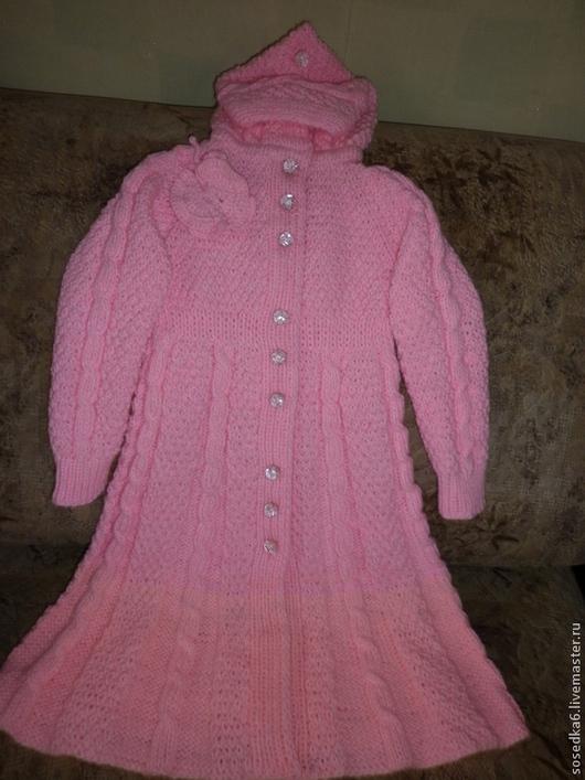 Одежда для девочек, ручной работы. Ярмарка Мастеров - ручная работа. Купить розовое пальто для девочки. Handmade. Бабочка, пальто с капюшоном