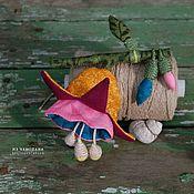 """Украшения ручной работы. Ярмарка Мастеров - ручная работа Текстильная брошь """"Аквилегия с бутоном"""". Handmade."""