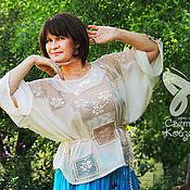 """Одежда ручной работы. Ярмарка Мастеров - ручная работа Блуза авторская """"Нежность прованса"""". Handmade."""