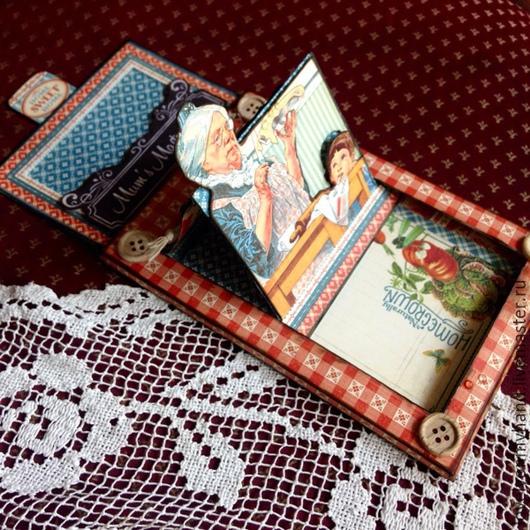 Открытки на все случаи жизни ручной работы. Ярмарка Мастеров - ручная работа. Купить Открытка-слайдер Бабушке на 8 Марта. Handmade.