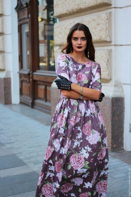 Платья ручной работы. Ярмарка Мастеров - ручная работа. Купить Версаль. Handmade. Сиреневый, цветочное платье, кофейное платье