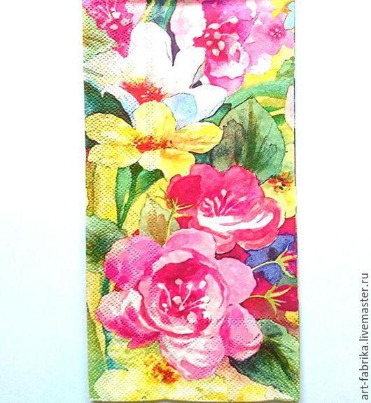 Декупаж и роспись ручной работы. Ярмарка Мастеров - ручная работа. Купить Punch Studio Акварельные цветы. Handmade. Комбинированный
