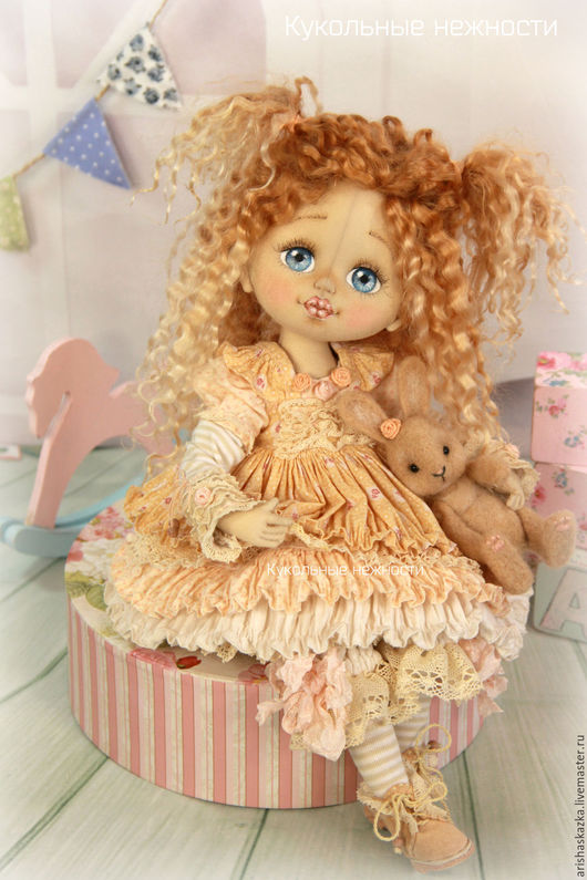 Коллекционные куклы ручной работы. Ярмарка Мастеров - ручная работа. Купить Шарлотка с кроликом   . Кукла авторская текстильная art doll. Handmade.