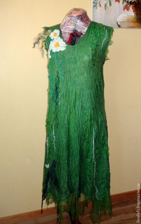 """Платья ручной работы. Ярмарка Мастеров - ручная работа. Купить """" Ромашки """" Валяное платье или сарафан. Handmade."""
